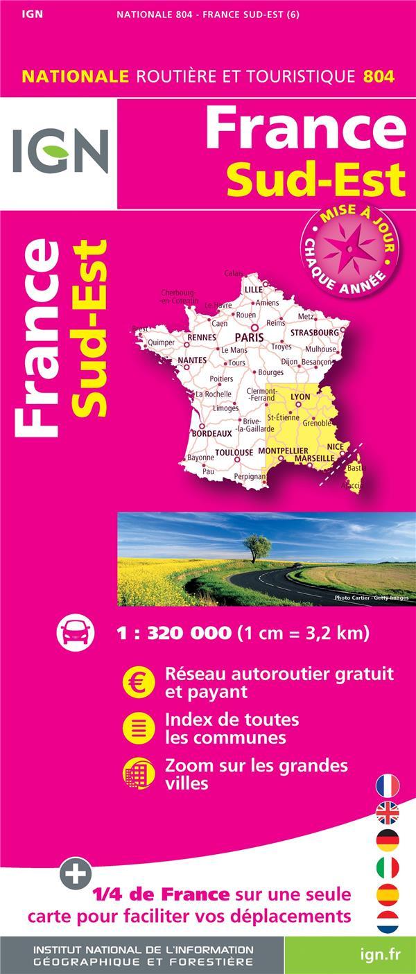 1M804 FRANCE SUD-EST 2018 (1 : 320 000)