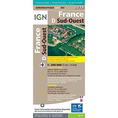 OACI947 FRANCE SUD-OUEST PELLICULEE 2019 1/500.000