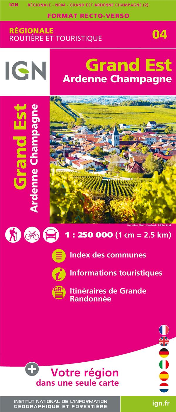 NR04 GRAND EST (ARDENNES-CHAMPAGNE)  1/250 000