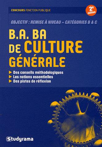 B.A.- BA DE CULTURE GENERALE 2 EDT