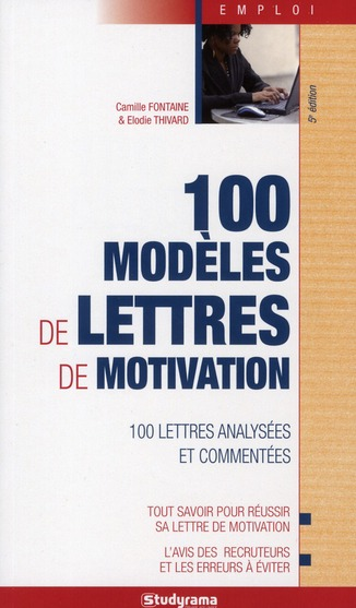 100 MODELES DE LETTRES DE MOTIVATION 5 EDT