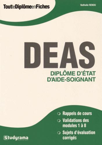 DEAS DIPLOME D'ETAT D'AIDE-SOIGNANT