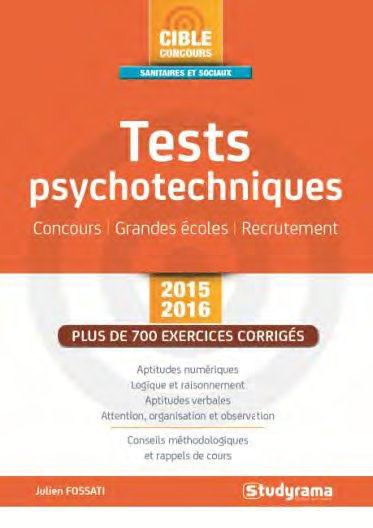 TESTS PSYCHOTECHNIQUES 2015-2015