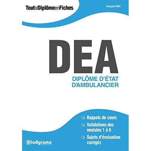DEA DIPLOME D'ETAT D'AMBULANCIER