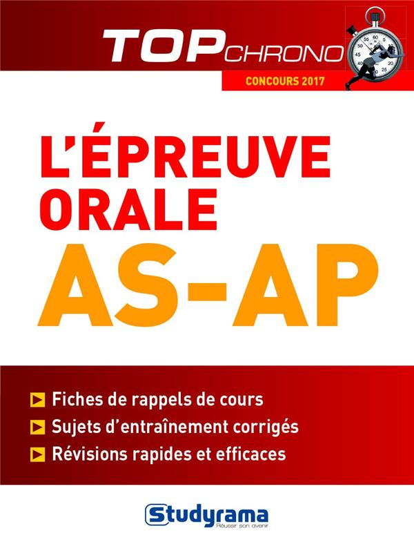 EPREUVE ORALE AS-AP (L')