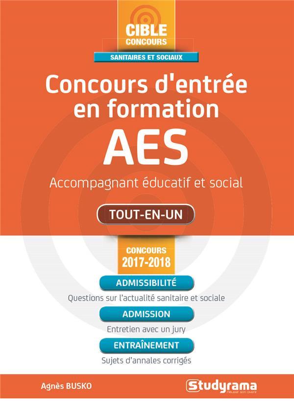 CONCOURS D'ENTREE EN FORMATION AES CONCOURS 2017-2018