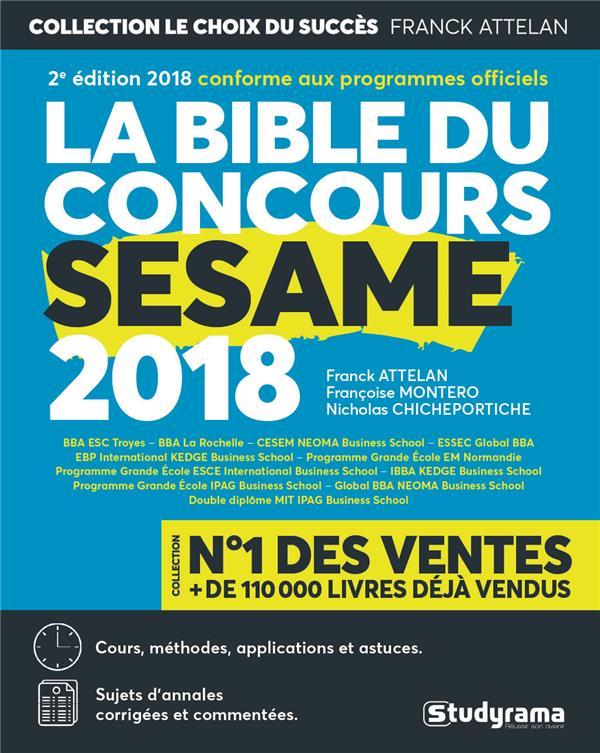 BIBLE DU CONCOURS SESAME 2018 (LA)