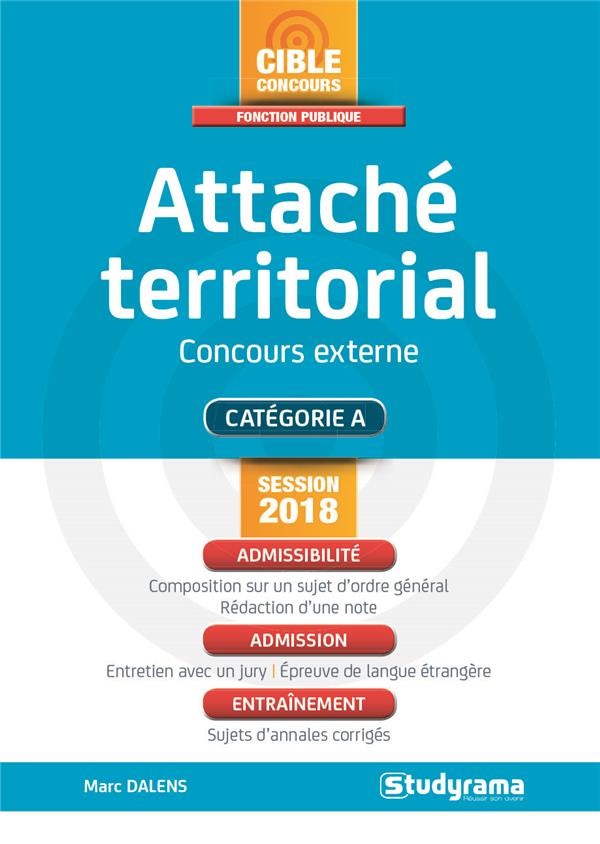 ATTACHE TERRITORIAL CONCOURS EXTERNE