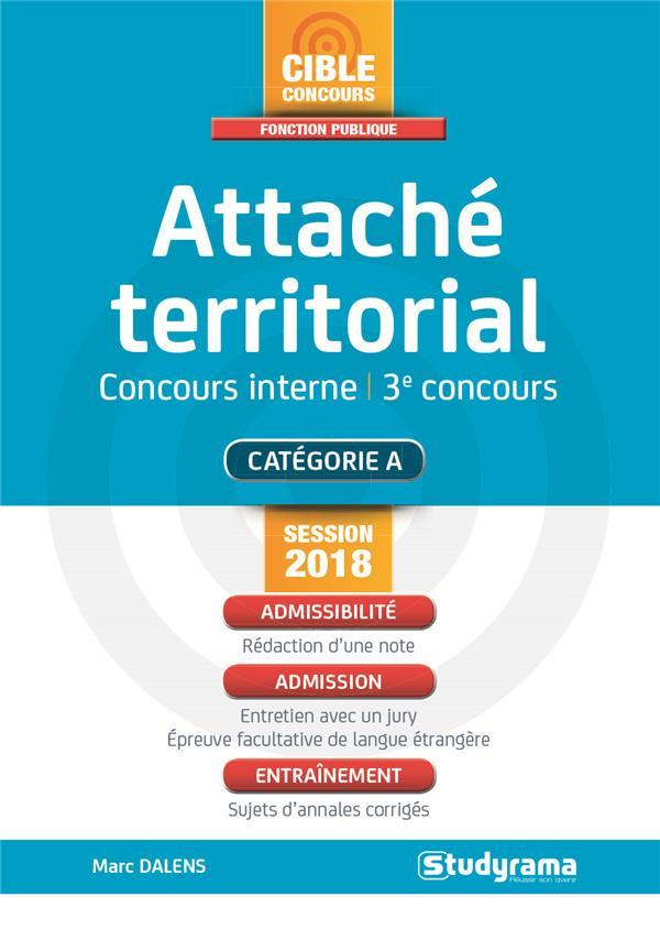ATTACHE TERRITORIAL CONCOURS INTERNE ET 3E CONCOURS