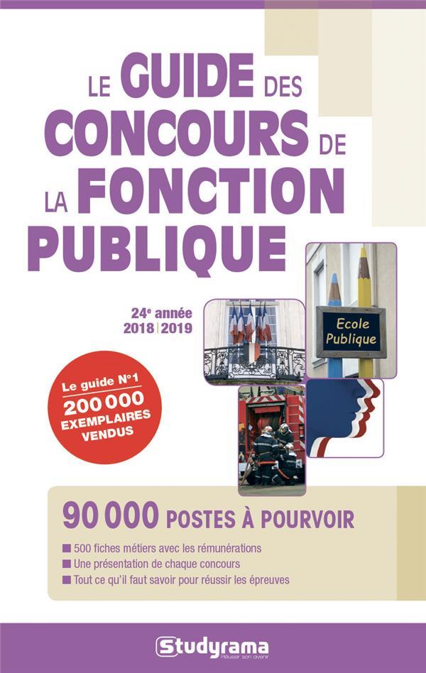 GUIDE DES CONCOURS DE LA FONCTION PUBLIQUE 2018-2019