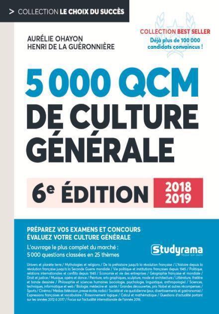 5000 QCM DE CULTURE GENERALE 2018-2019