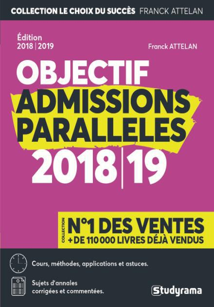 OBJECTIF ADMISSIONS PARALLELES 2018-2019
