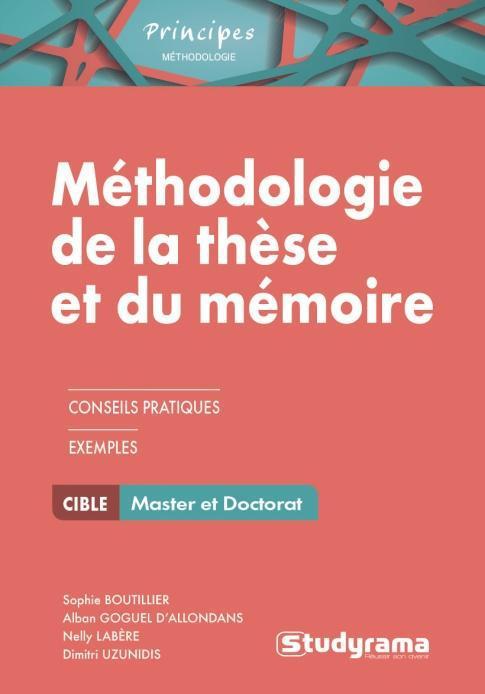 METHODOLOGIE DE LA THESE ET DU MEMOIRE