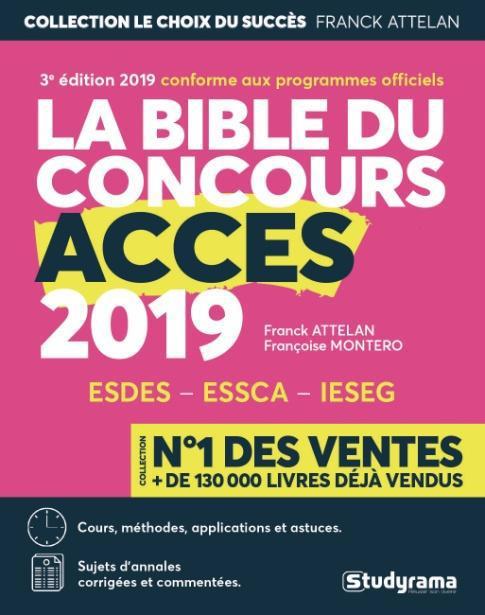BIBLE DU CONCOURS ACCES 2019 (LA)