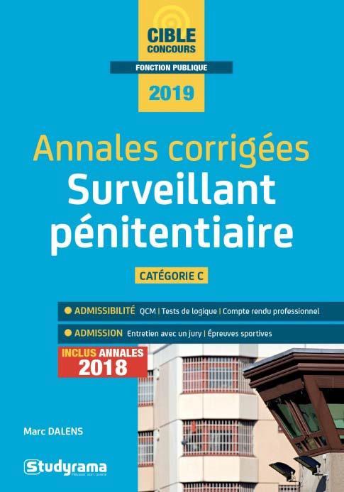ANNALES CORRIGEES SURVEILLANT PENITENTIAIRE 2019