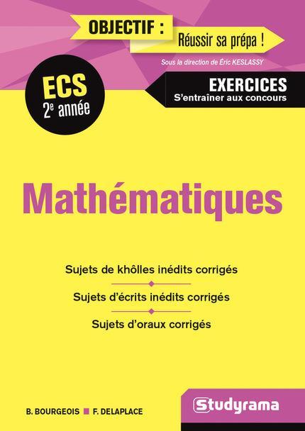 MATHEMATIQUES 2E ANNEE ECS EXERCICES S'ENTRAINER AUX CONCOURS