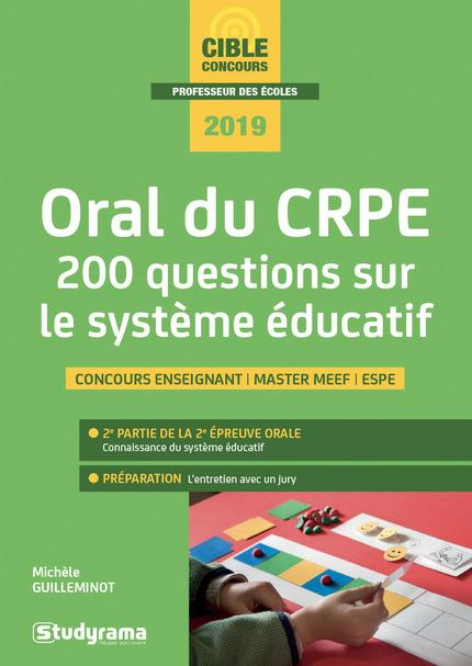 ORAL DU CRPE 200 QUESTIONS SUR LE SYSTEME EDUCATIF 2019