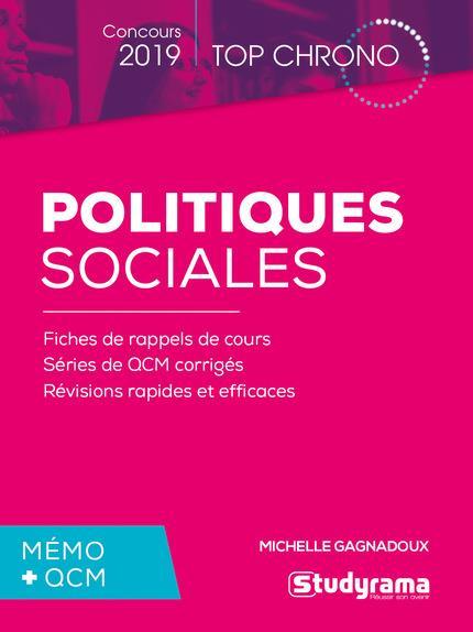 POLITIQUES SOCIALES CONCOURS 2019