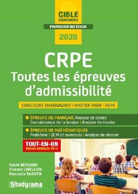 2020 CRPE TOUTES LES EPREUVES D'ADMISSIBILITE