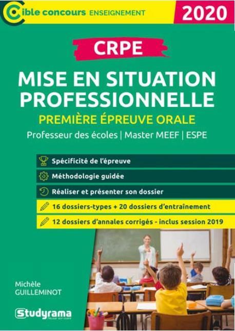 CRPE MISE EN SITUATION PROFESSIONNELLE 2020