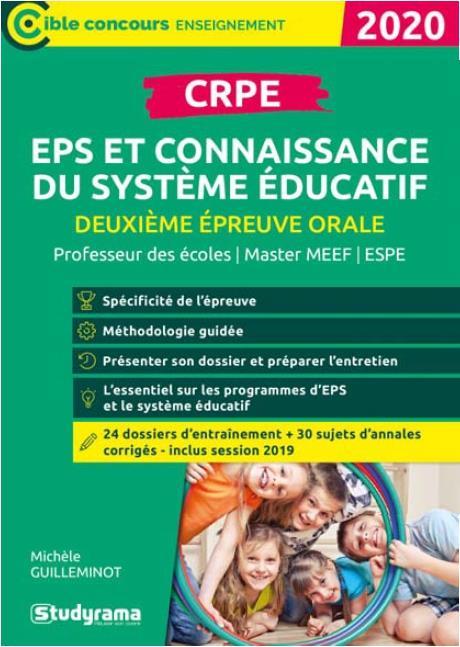 CRPE EPS ET CONNAISSANCE DU SYSTEME EDUCATIF 2020