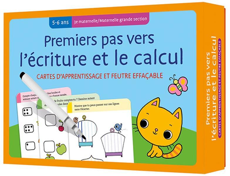 CARTES + FEUTRE - PREMIERS PAS VERS L'ECRITURE ET LE CALCUL (5-6 A.) 3E MATERNELLE