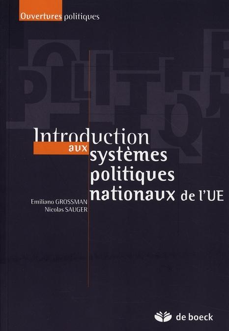 SYSTEMES POLITIQUES NATIONAUX DE L'UNION EUROPEENNE (LES)