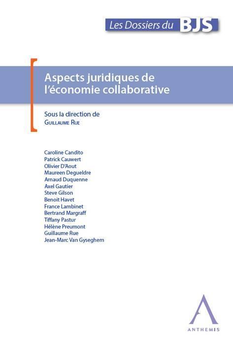 ASPECTS JURIDIQUES DE L ECONOMIE COLLABORATIVE