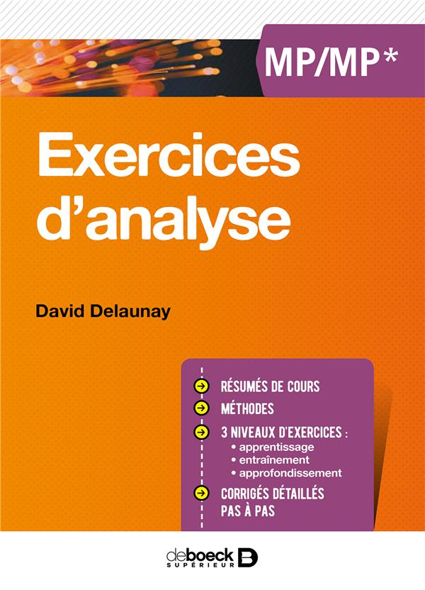 EXERCICES D'ANALYSE MP/MP