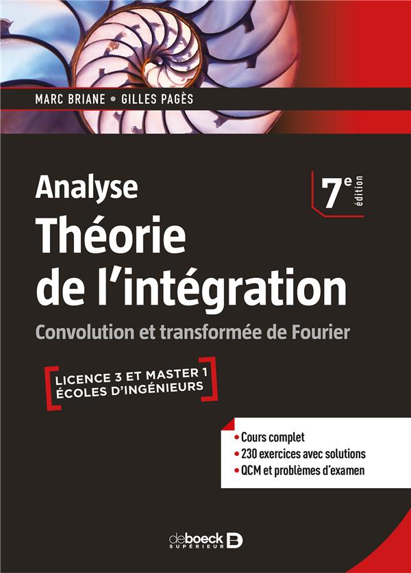 ANALYSE THEORIE DE L'INTEGRATION