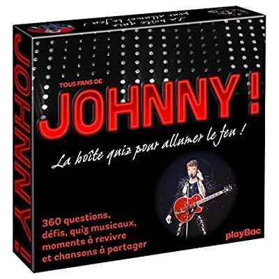 COFFRET QUIZ JOHNNY HALLYDAY - LA BOITE DE JEU QUI VA ALLUMER LE FEU !