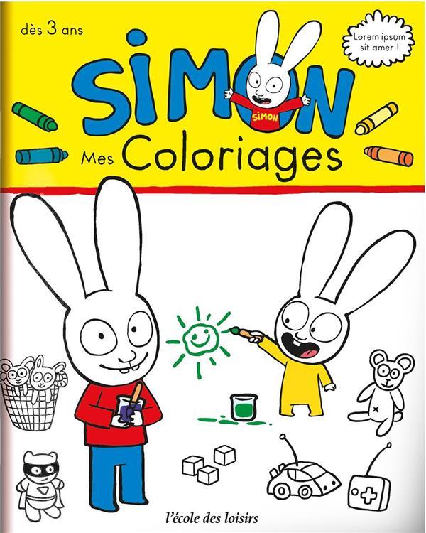 SIMON - MON CAHIER DE COLORIAGES
