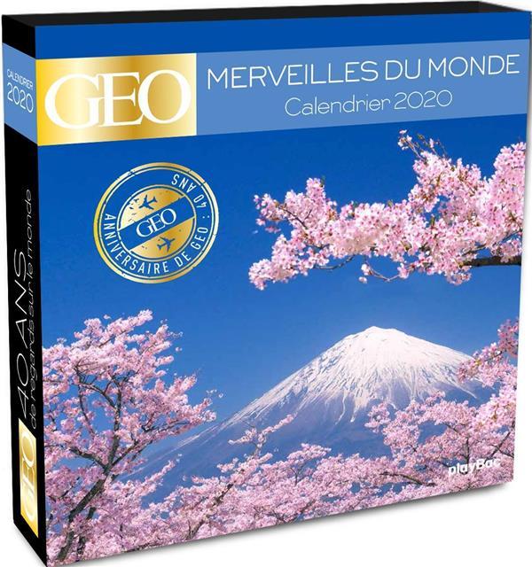 CALENDRIER 2020 SPECIAL 40 ANS GEO - MERVEILLES DU MONDE