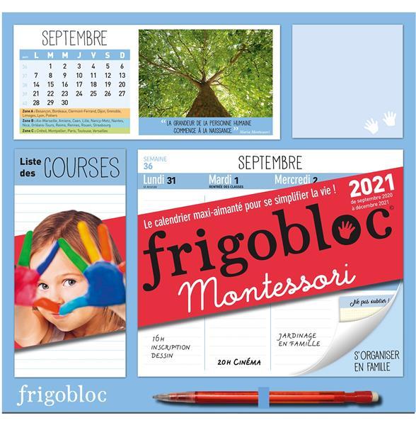FRIGOBLOC MONTESSORI 2021 - CALENDRIER D'ORGANISATION FAMILIALE (DE SEPT. 2020 A DECEMBRE 2021)