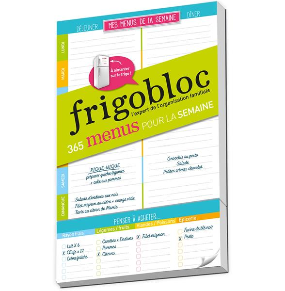 FRIGOBLOC MES LISTES DE MENUS