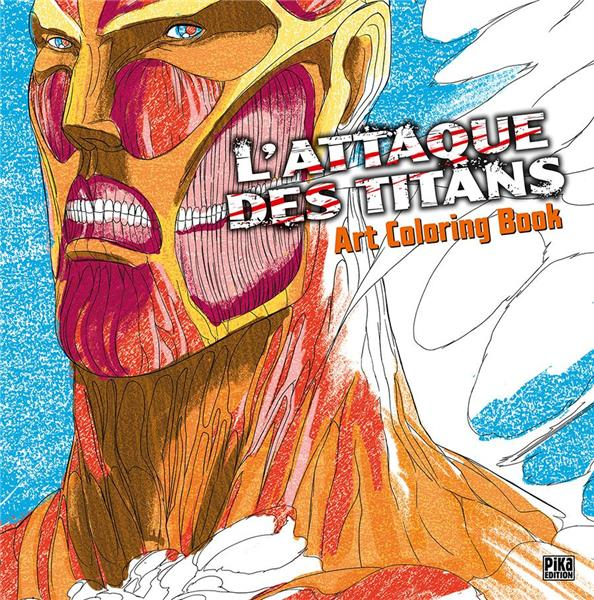 L'ATTAQUE DES TITANS ART COLORING BOOK