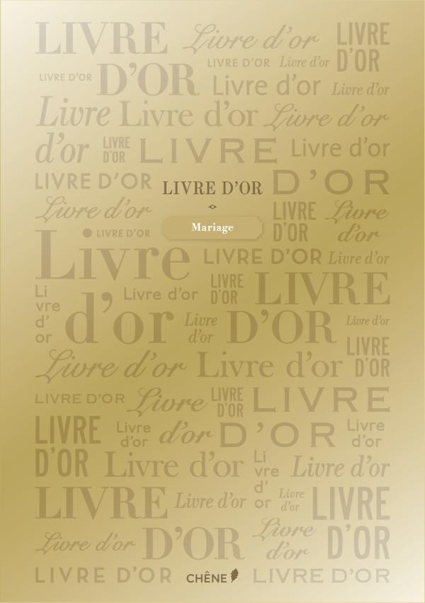 LIVRE D'OR DORE GRAND