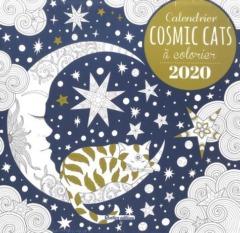 CALENDRIER COSMIC CATS A COLORIER 2020