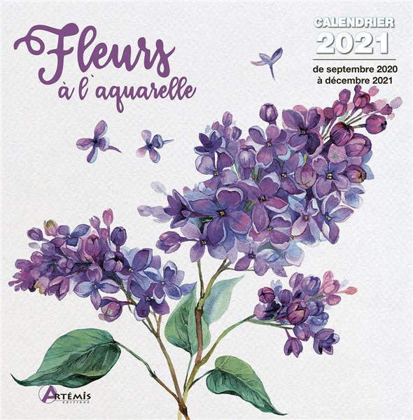 CALENDRIER FLEURS A L'AQUARELLE 2021