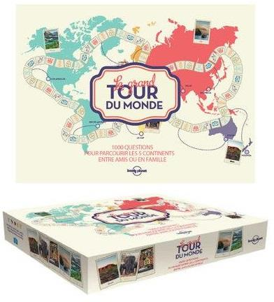 LE GRAND TOUR DU MONDE LONELY PLANET - JEU DE PLATEAU