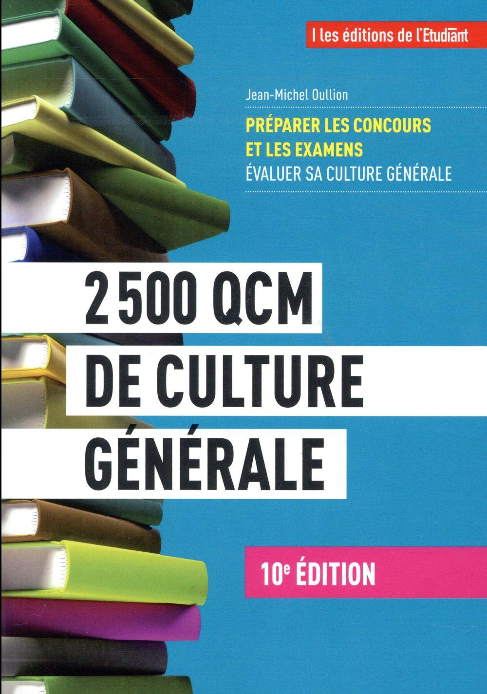 2500 QCM DE CULTURE GENERALE