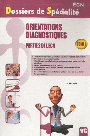 DSP ORIENTATIONS DIAGNOSTIQUES TOME 1