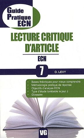 GUIDE PRATIQUE ECN LECTURE CRITIQUE D'ARTICLE