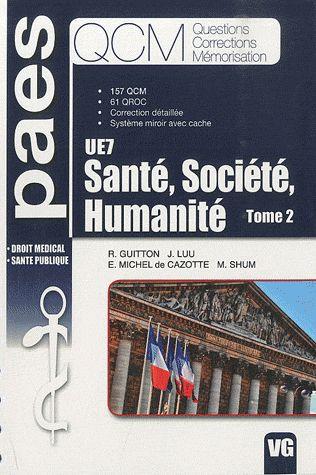 QCM PAES SANTE SOCIETE HUMANITE TOME 2