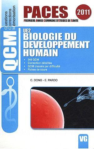 QCM PACES BIOLOGIE DU DEVELOPPEMENT HUMAIN