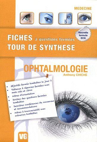 FICHES TOUR DE SYNTHESE OPHTALMOLOGIE