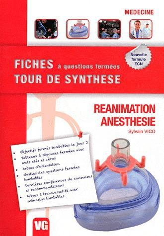 FICHES TOUR DE SYNTHESE REANIMATION ANESTHESIE