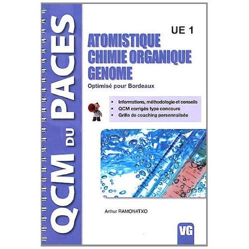 QCM PACES ATOMISTIQUE CHIMIE ORGANIQUE GENOME