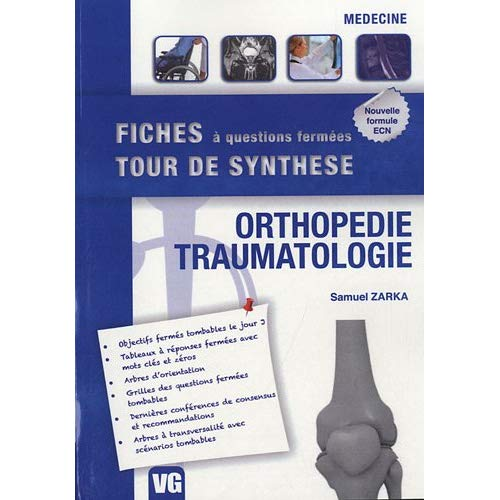 FICHES TOUR DE SYNTHESE ORTHOPEDIE TRAUMATOLOGIE