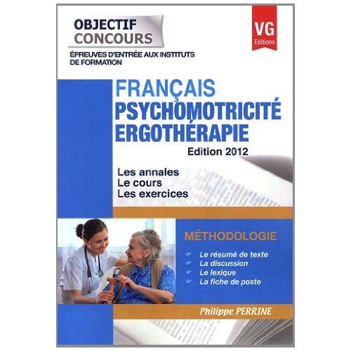 OBJECTIF CONCOURS FRANCAIS PSYCHOMOTRICITE ERGOTHERAPIE
